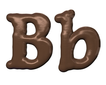 alphabet letter: Chocolate alphabet