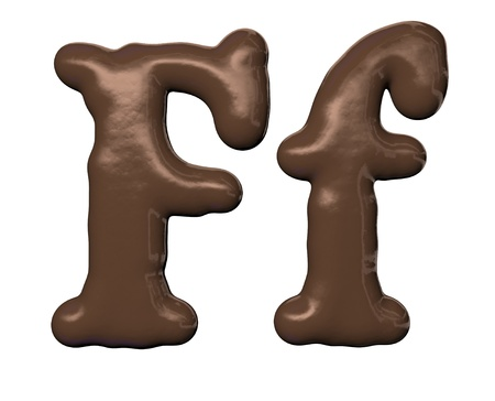 alphabet style: Chocolate alphabet