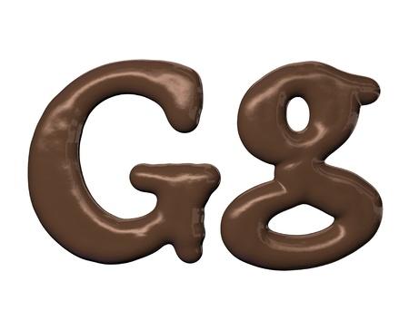 Chocolate alphabet photo