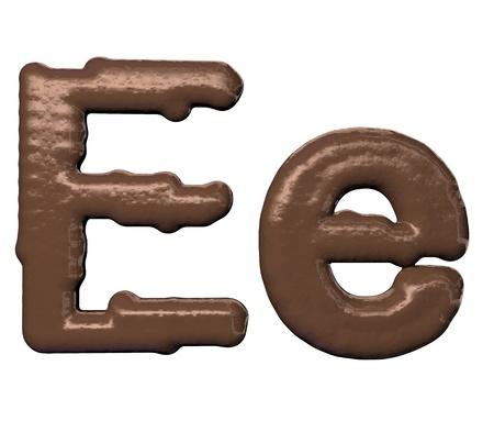 Chocolate Font  photo