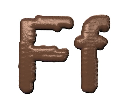 Chocolate Font  photo