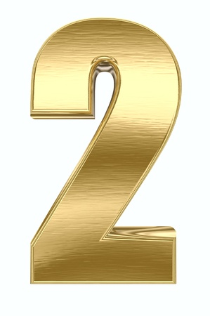 numeral: Yellow metal number