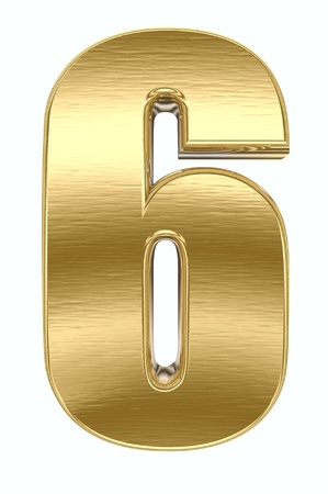 golden font: Yellow metal number