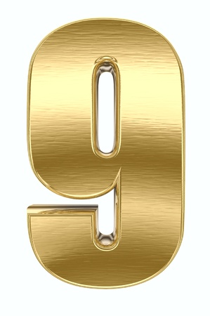 Yellow metal number  photo