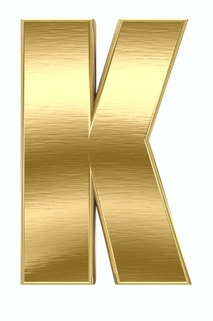 gold letters: Yellow metal letter