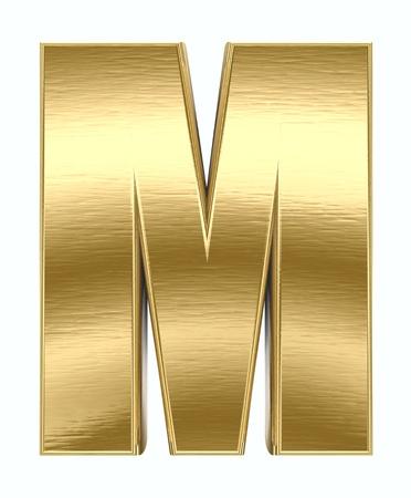 letras doradas: Carta de metal amarillo