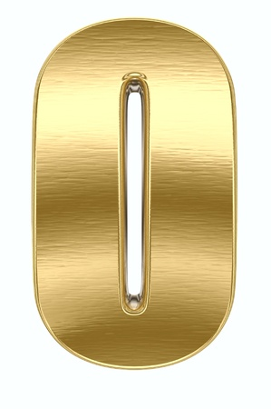 Yellow metal letter