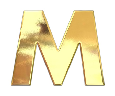 smooth shadow: Yellow metal letter