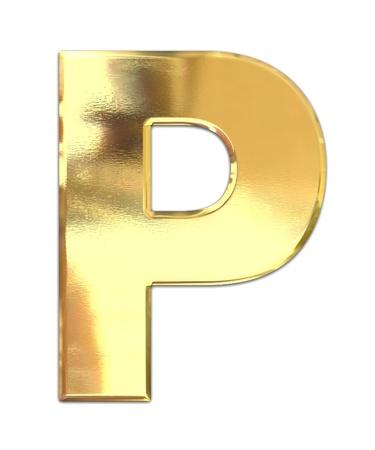 gold letters: Carta de metal amarillo