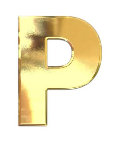 symbol yellow: Yellow metal letter