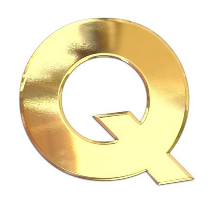 letras de oro: Carta de metal amarillo