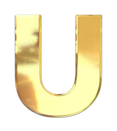 Yellow metal letter  photo
