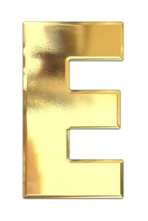 lettres en or: Lettre m�tal jaune