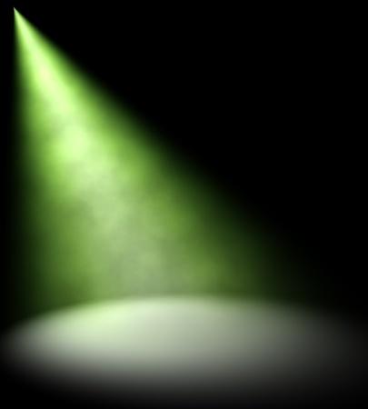 taschenlampe: Gr�nes Licht-Beam