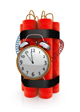 dynamite: Bomb with timer Stock Photo