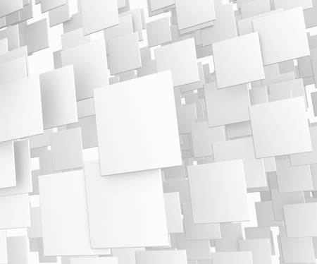 rectangle: 3d abstract white cube background