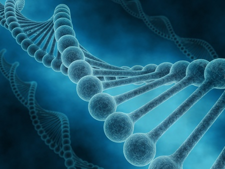 gene on a chromosome: Spiral of DNA Stock Photo