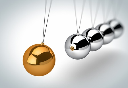 cradle: Newtons cradle Stock Photo