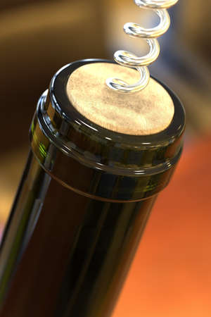 differential focus: Opening a bottle of wine (shallow DOF)
