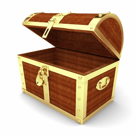 Wooden treasure chest  photo