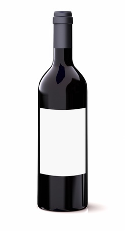 brand label: Red wine bottle Stock Photo