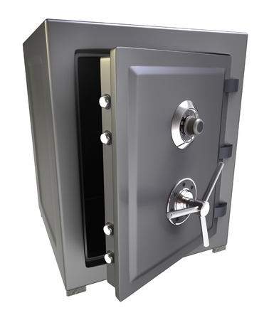 caja fuerte: Caja fuerte del banco Foto de archivo