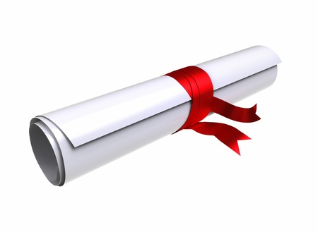 Graduation diploma - clipping path include  Stock Photo