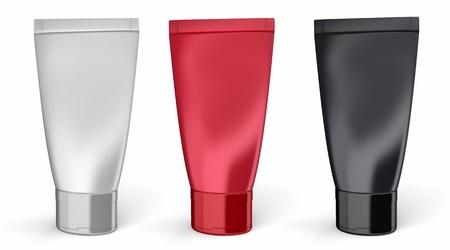 red tube: Crema conjunto de contenedores