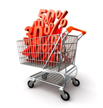 Shopping cart full percentage of discount photo