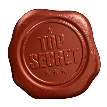 Top secret - seal stamp photo