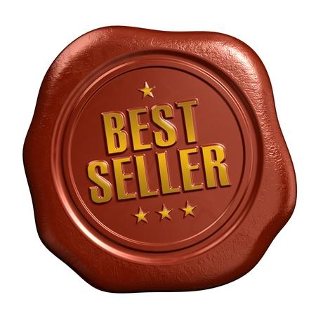 vendedor: Los más vendidos - sello del sello Foto de archivo