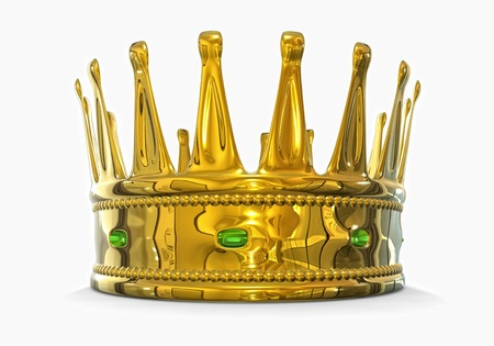 royal person: Golden crown Stock Photo
