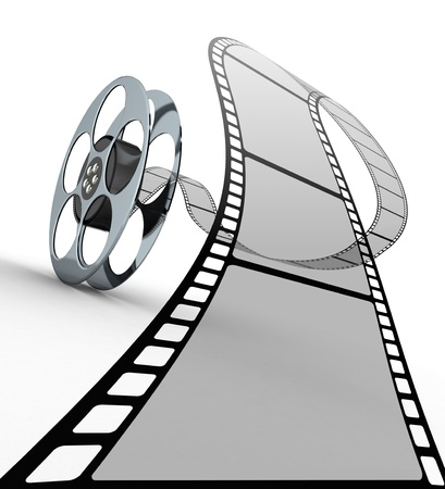 reel: Film strip Stock Photo