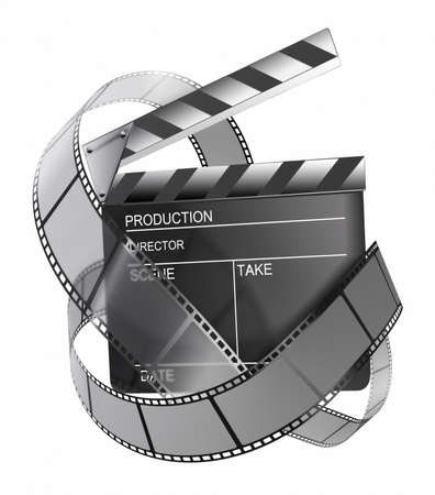 clapboard and film strip  photo