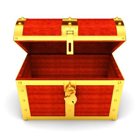 wooden box: treasure chest