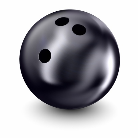 Bowling ball on a white background  Stock Photo
