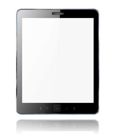 3d black abstract tablet pc on white background Stock Photo - 12655668