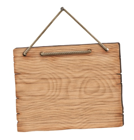 hanging sign: Blank wooden board
