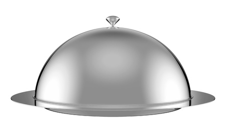 silver ware: Restaurant cloche with lid -