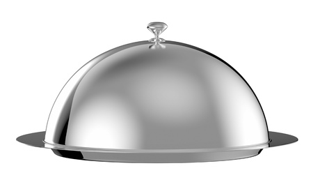 Restaurant cloche with lid -  Stock Photo