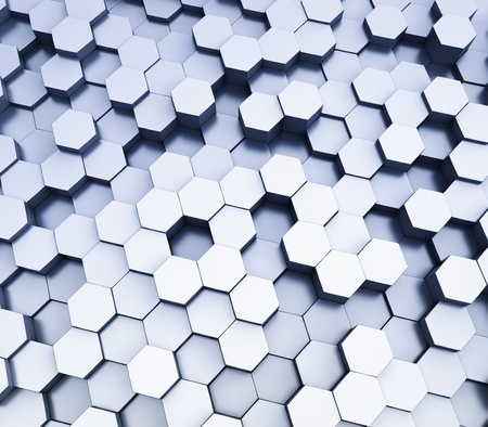 abstract hexagonal cubes background  photo