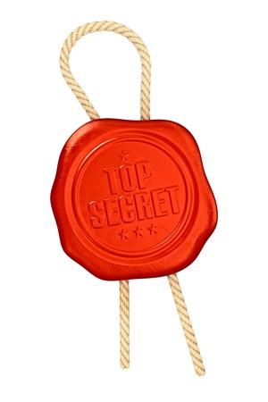 Top secret - seal wax Stock Photo - 13167941