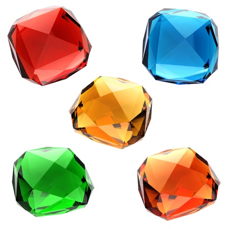 Set of colorful gems photo