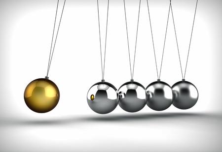 pendulum: Newton s cradle Stock Photo