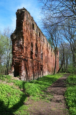 teutonic: Balga - rovine del castello medievale dei Cavalieri Teutonici regione di Kaliningrad, Russia Archivio Fotografico