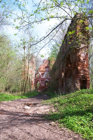 Balga - ruins of medieval castle of the Teutonic knights  Kaliningrad region, Russia  Stock Photo - 13444434