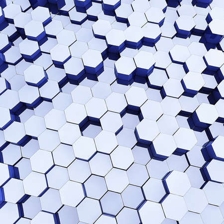 Abstract hexagonal background  photo
