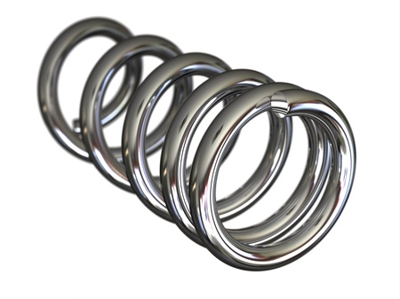 absorber: Steel spring on white background