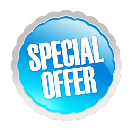 Special offer sticker - isolated on white background photo