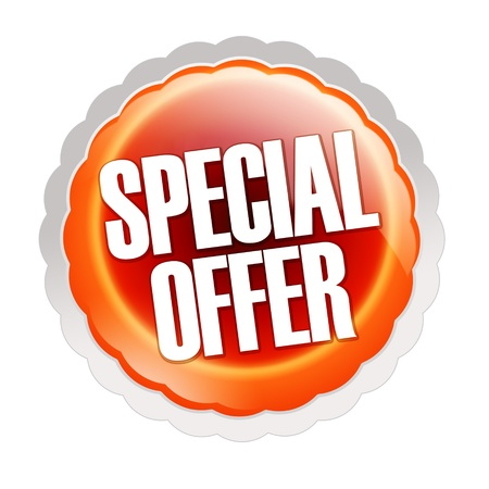 special service: Special offer sticker